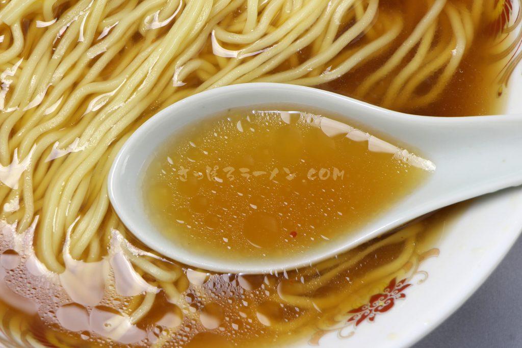 北るもい漁業協同組合「えびみそラーメン(SHRIMP SOUP NOODLE)」のスープ