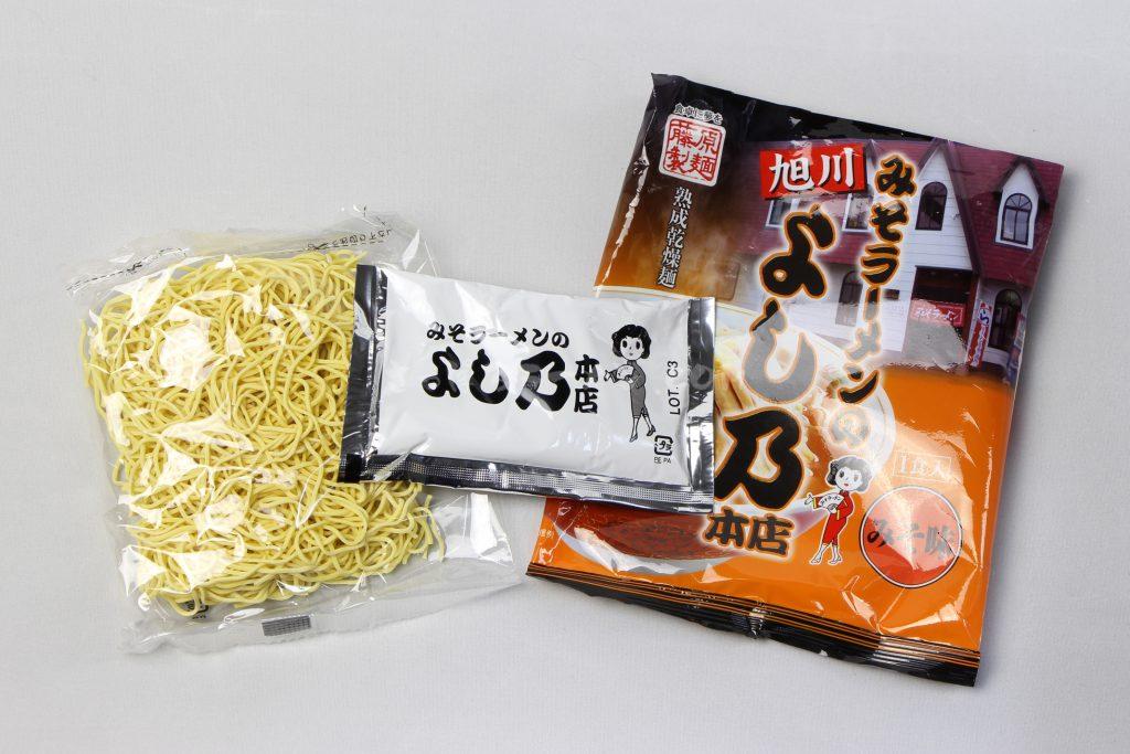 「旭川みそラーメンのよし乃本店」(藤原製麺)の麺とスープ