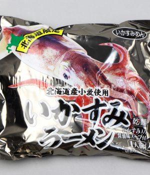麺もスープも真っ黒「いかすみラーメン いかすみ入り醤油味スープ付 1人前」(小六)を食べてみたよ