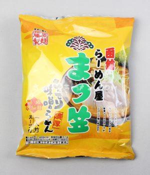 「函館らーめん屋 まつ笠 こってり味噌らーめん」(藤原製麺)を食べてみたよ