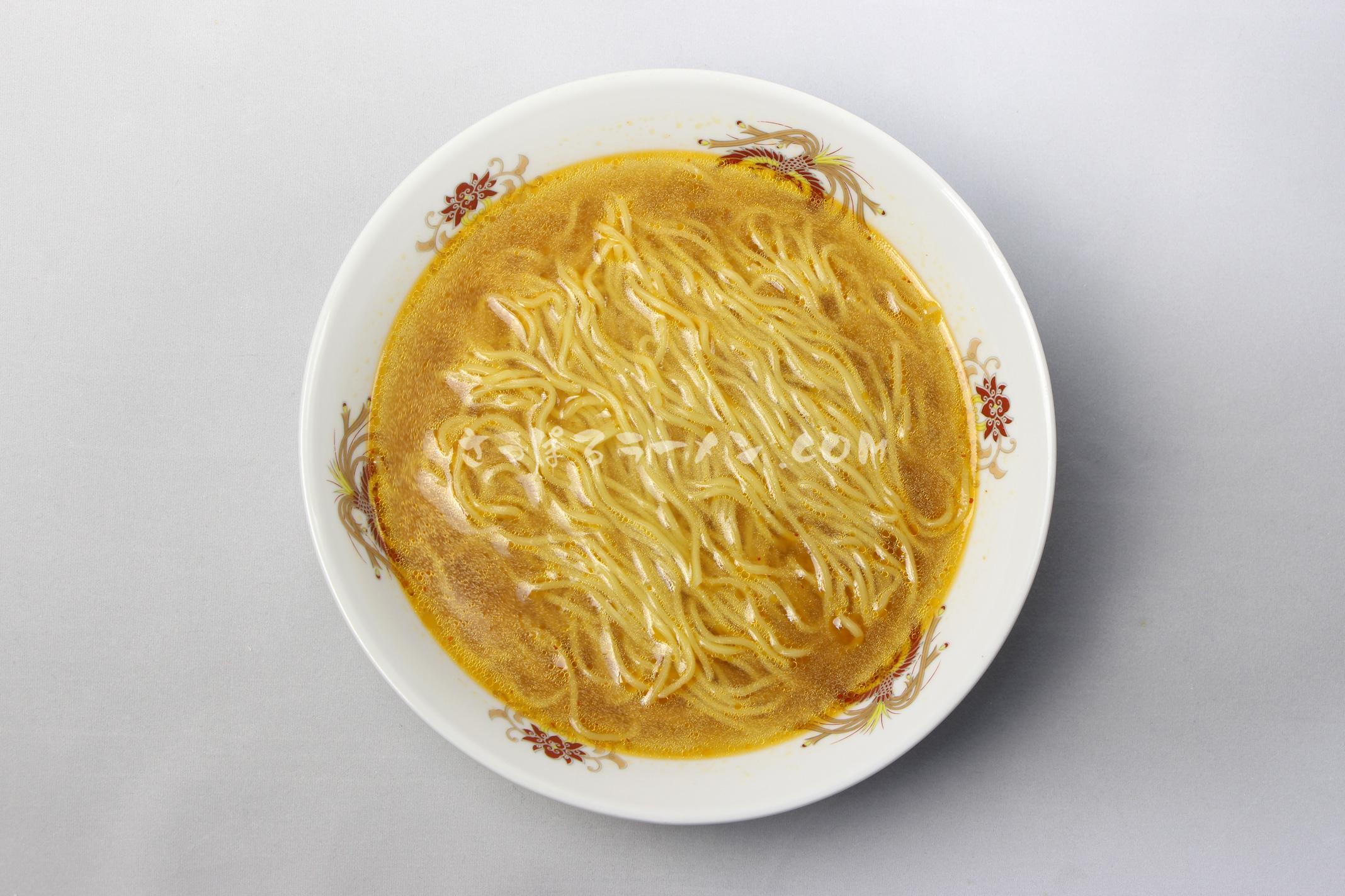 「北海道ラーメン札幌味噌」(藤原製麺)の完成画像