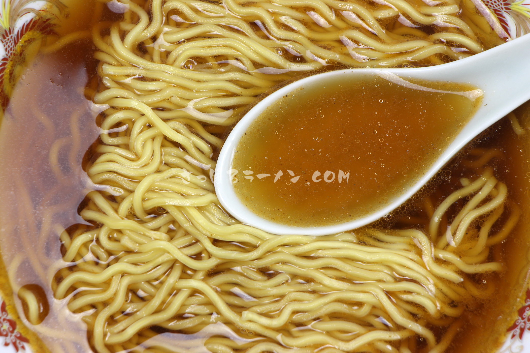 「甘海老醬油らーめん」(麺屋 田中商店)のスープ